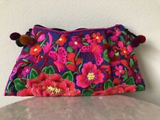 Jaipuri Indian Embroidered  Crochet Bag Cotton Trendy Pouch Bags Fabric Purses