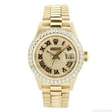 Rolex Datejust Ladies President Yellow Gold with Diamonds 26mm