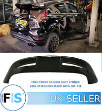 FORD FIESTA ST LOOK BOOT PERFORMANCE SPOILER 2009-2018 GLOSS BLACK 100% OEM FIT