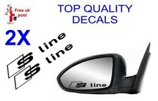 2 X AUDI S-LINE Wing Mirror Decals  sticker