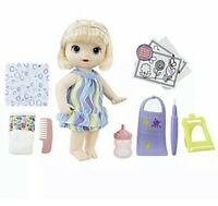 Baby Alive Finger Paint Baby: Blonde Hair Doll Kid Toy Gift