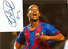 "Ronaldinho - Colour 10""x 8"" Signed Card with Photo - UACC RD223"