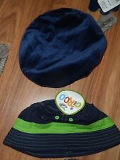 lot of 2 boys  newsboy velvety & sun cap hat ~~  infant 12 - 18 months  bucket