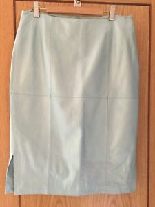 LOVELY DESIGNER LEATHER SKIRT - SIZE 44 (UK 14)