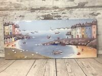 Holiday Picture By Seaside Sheep On The Beech Lighthouse Ready To Hang Brand New