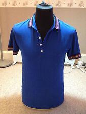 Firetrap Polo Shirt Blue  Adult  Medium Multi Tipped Collar (P 616)