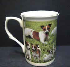 Jack Russel Terrier Dog Wrap Fine Bone China Mug Cup Beaker Castle Shape