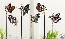 one FAIRY GARDEN STAKE 26.6 IN. STAINED GLASS METAL yard decor faerie village #1