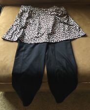 Runningskirts.com capri skirt leopard print, size 1