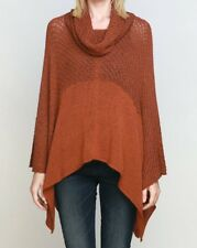Wooden Ships Paola Buendia Crosby Poncho XS/S Sepia Rust NEW