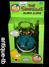 VINTAGE THE SIMPSONS WIND UP ALARM CLOCK NEW GLOW IN THE DARK EARLY RARE 1990