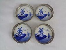 New listing Vintage Porcelain Windmill German Coasters (4) - Sternauware 3470