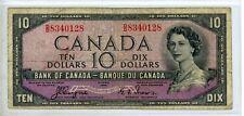 New listing 1954 Canada Canadian $10 Ten Dollar Devils Head Face #0128