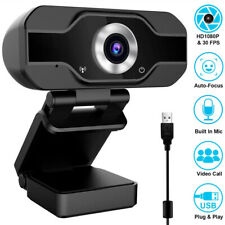 1080P Full HD USB Webcam for PC Desktop Laptop Web Camera Microphone 10FT Cable