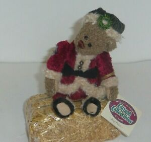 """Rag Paws 7"""" new Cottage Collectibles wobble jointed Christmas Santa teddy bear"""