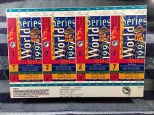 Mint 1997 World Series Ticket Sheet Game 1 2 6 7 Marlins Cleveland