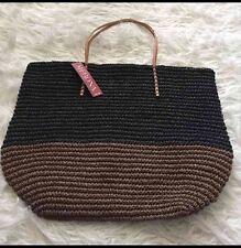 Merona Beach Bag Tote Bag Black And Brown Beach Bag Large