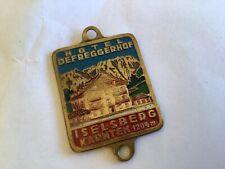 Alte kleine Plakette Iselsberg Tirol 1204m Vespa NSU Puch Zündapp Goggo