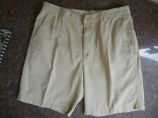 TOMMY BAHAMA mens 38 tan Cotton Lycocel Blend FLAT FRONT casual SHORTS