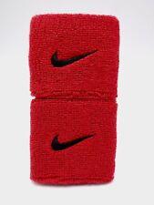 "Nike Swoosh Wristbands Sport Red/Black 3"" Men's Women's"