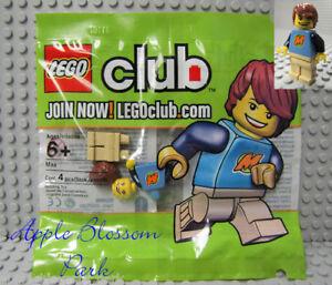NEW Lego CLUB MAX MINIFIG Minifigure Boy w/Brown Side Swept Hair Smile Head RARE