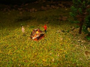 CAMPFIRE BONFIRE WITH FLICKERING LED N GAUGE 1:150 SCALE MODEL RAILWAYS NEW