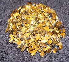 2000 x Gold Tigers Eye Tumblestones Mini Chip Crystal 3mm-5mm Gemstone Wholesale