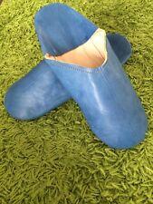 Letzte orientalische marokkanische Babouche / Pantoffel blau Größe 42 Leder