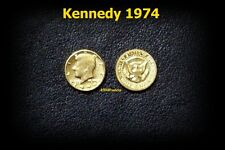 mini Pièce OR 22K GE Liberty KENNEDY USA 1974 Half GOLD Clad