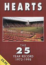 Heart of Midlothian - The 25 Year Record - JAMBOS History Statistics Livre