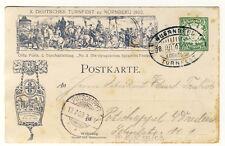 BAYERN - PRIVATGANZSACHE PP15/C55/03 TURNFEST Nürnberg 1903 mit SSt. (8558/317)