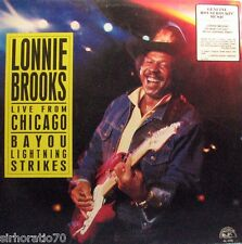 LONNIE BROOKS BAND Bayou Lightning Strikes Live From Chicago  LP