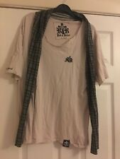 Rock & Revival t shirt with attached scarf - rare & unusual XL 12 - 16