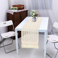 Cotton Fringe Macrame Table Runner Boho Moroccan Wedding Banquet Table Decor