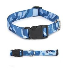 "CAMO DOG COLLARS Large 18"" to 26"" Blue Camouflage Collar for Dogs CLOSEOUT !"