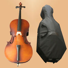 SET 4/4 Full Size Vintage Color Cello & Bag & Bow +Resin WHEELED CASE-342# NEW