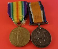 """Ww1 Great Britain 1914-18 & Victory Medals """" 1042104 Spr.J.Duval.C.R.T. """""""