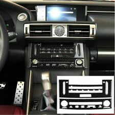 Carbon Fiber Air Condition CD Panel Cover Trim For LEXUS IS250 IS350 2014-2018