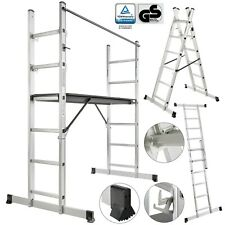 Arebos ME7683887 Aluminum 3 in 1 Working Ladder