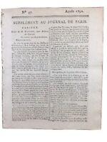 Collot d'Herbois 1792 Gardes Suisses Chateauvieux Paris Révolution Française