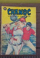 "VTG 1968 MEXICAN COMIC CHANOC # 269 ""BATAZO ENTRE DOS"" BASEBALL ED. HERRERIAS"