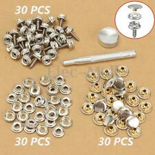 90x 3/8'' Boat Marine Cover Canvas Canopy Snap Fastener Sockets Screw Kit Tools