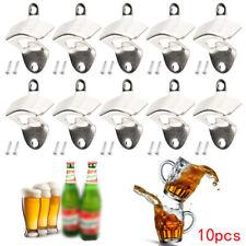 10x Plata Soporte de Pared Abierta Vino Cerveza Soda Vidrio Tapa Botella Abridor
