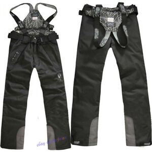 Mens Waterproof Ski Pants Overalls Snow Trousers Outdoor Sports Salopettes NEW
