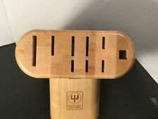 Wusthof - Trident - Wood Knife Block - Maple - Holds 10 Pieces - Excellent