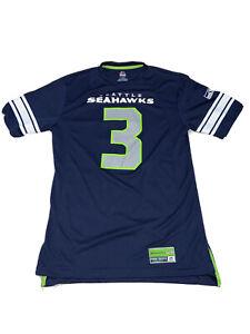 NFL Football Majestic Seattle Seahawks Russell Wilson #3 Men's Athletic Shirt M