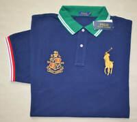 New Large L Polo Ralph Lauren Big Pony shirt top blue classic fit short sleeve