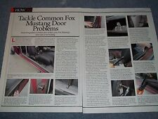 1979-'93 Ford Fox Body Mustang Door Fix How To Tech Info Article