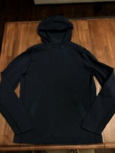 Lululemon Pullover Sweatshirt Mens Large Blue Hoodie Pockets Hoodie