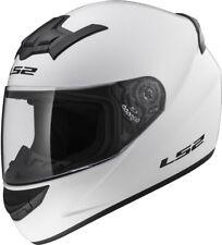 LS2 FF352 FULL FACE MOTORCYCLE MOTORBIKE HELMET WHITE, MATT BLACK PLAIN ROOKIE